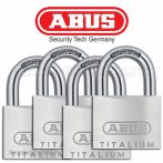 Abus Titalium Quads 4 buc lacăt set 40 mm